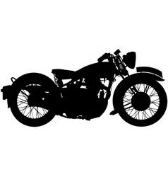 Classic motorbike silhouette vector