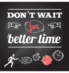 Clock Chalkboard Poster vector image