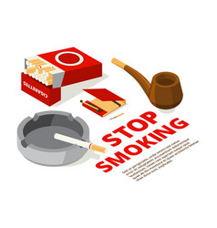 concept of stop smoking theme vector image