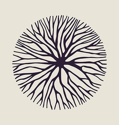 Concept tree branch circle shape vector