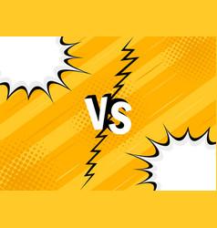 concept vs versus fight vector image