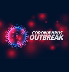 coronavirus infection outbreak pandemic disease vector image