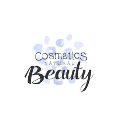 Cosmetics Beauty Promo Sign vector image