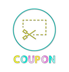 Coupon icon with scissors vector