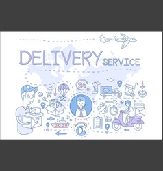 delivery service concept icons vector image