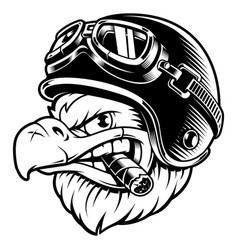 eagle biker with cigar vector image