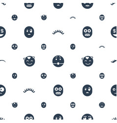 Eyes icons pattern seamless white background vector