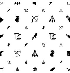 feather icons pattern seamless white background vector image
