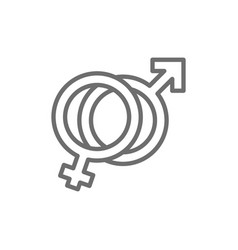 female and male symbols man and woman sign vector image