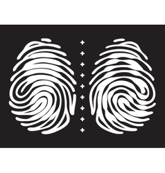 Fingerprint with keyhole and padlock shape vector