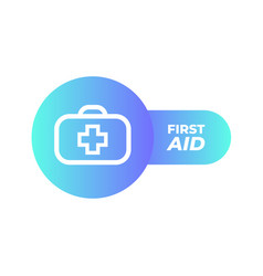 first aid icon in trendy flat style isolated vector image