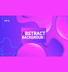 fluid shapes composition abstract cover design vector image