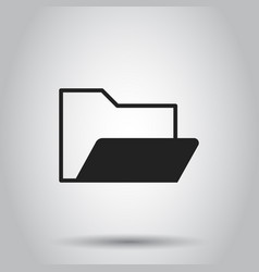 Folder document flat icon archive data file vector