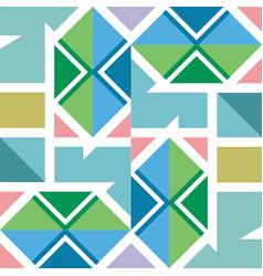 geometric pattern in modern stylish texture vector image