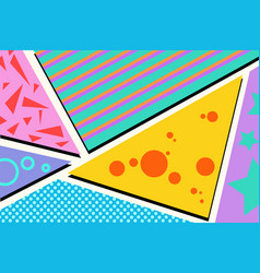 Geometric pop art background vector