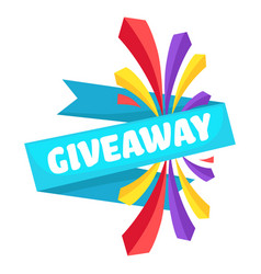 Giveaway banner for social media promotion and vector