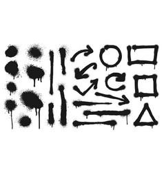 graffiti spray lines grunge dots arrows vector image