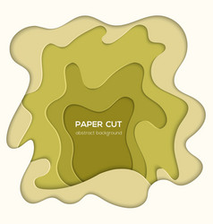 Green abstract layout - paper cut vector