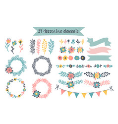Hand drawn decorative elements vector