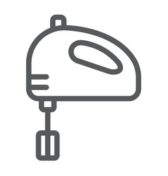 hand mixer line icon kitchen and cooking vector image
