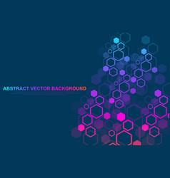 hexagonal geometric background hexagons genetic vector image