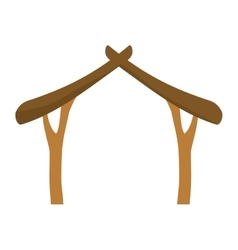house wood holy family design vector image