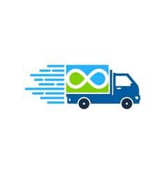 infinity delivery logo icon design vector image