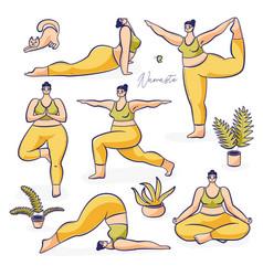 International yoga day poster vector