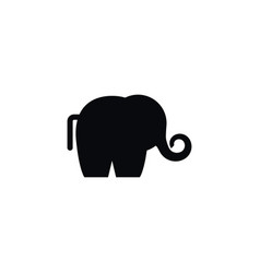 isolated ivory icon trunked animal element vector image