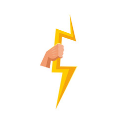 Isolated object lightning and zeus sign vector