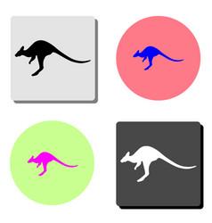 kangaroo flat icon vector image