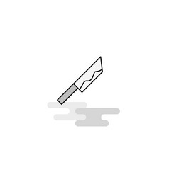 knife web icon flat line filled gray icon vector image