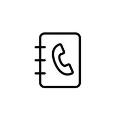Line phonebook icon on white background vector