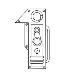 Mechanical number 1 engraving vector