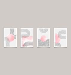 mid century modern abstract minimal posters vector image
