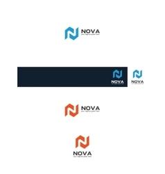 n map logo vector image