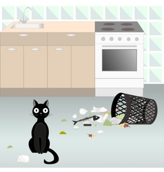 Naughty cat 5 vector image