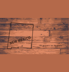 new mexico map brand vector image