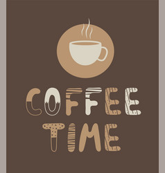 Offee time lettering vector