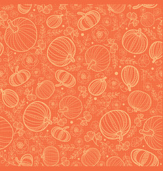 orange pumpkins texture seamless repeat vector image