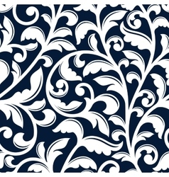 Ornamental white floral seamless pattern vector