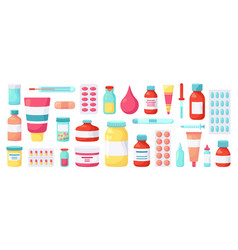 pharmacy medications medicine drugs vector image