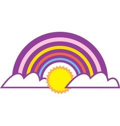 Rainbow graphic vector image vector image