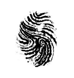 Realistic imprint human thumb simple black vector