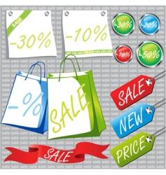 Retail sale labels vector