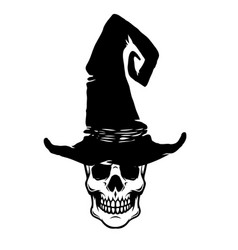 scary witch skull design element for postercard vector image