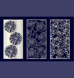 set decorative laser cut panels vector image