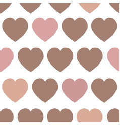 simply heart pastel pattern valentines vector image