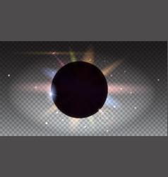 solar eclipse astronomical phenomenon light rays vector image