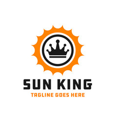 sun king logo vector image